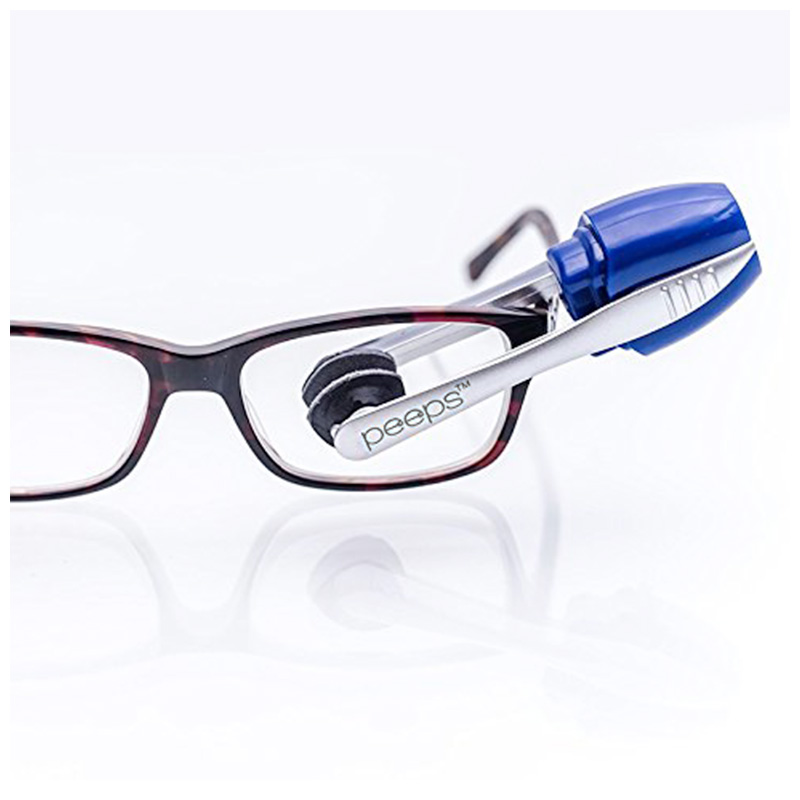 Peeps Eyeglass Cleaner All-In-One Lans Cleaning Brush Tool for Eyeglasses Sunglasses - Blue