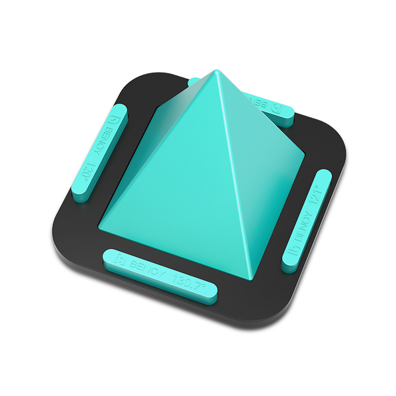Multi-angle Pyramid Anti-Slip Silicone Phone Stand Holder for Mobiles Tablets - Green