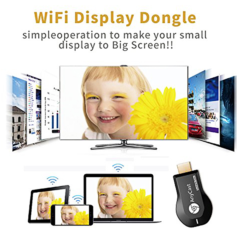 Wholesale AnyCast M9 Plus Wireless WiFi Display Dongle Receiver
