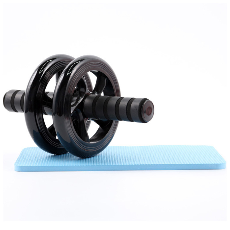 Abdominal Exercise Roller Body Fitness Strength Training Machine Abs Wheel Gym - Black