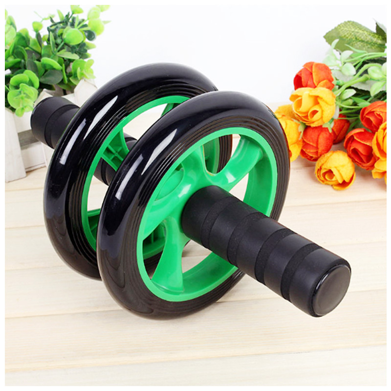 Abdominal Exercise Roller Body Fitness Strength Training Machine Abs Wheel Gym - Green
