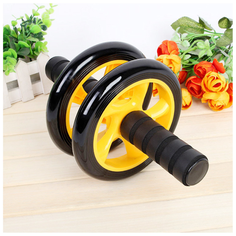 Abdominal Exercise Roller Body Fitness Strength Training Machine Abs Wheel Gym - Yellow