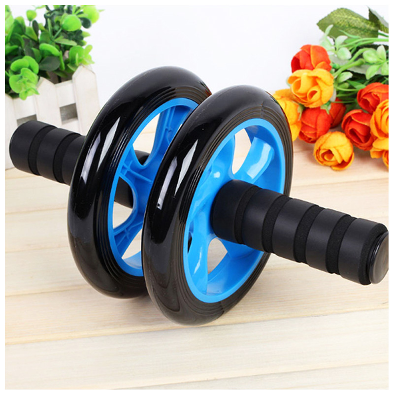 Abdominal Exercise Roller Body Fitness Strength Training Machine Abs Wheel Gym - Blue
