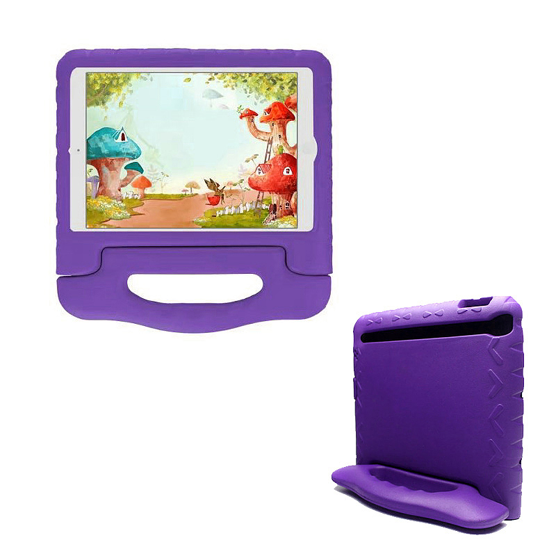 Shockproof EVA Foam Handle Stand Case Cover for Apple iPad 2/3/4 - Purple
