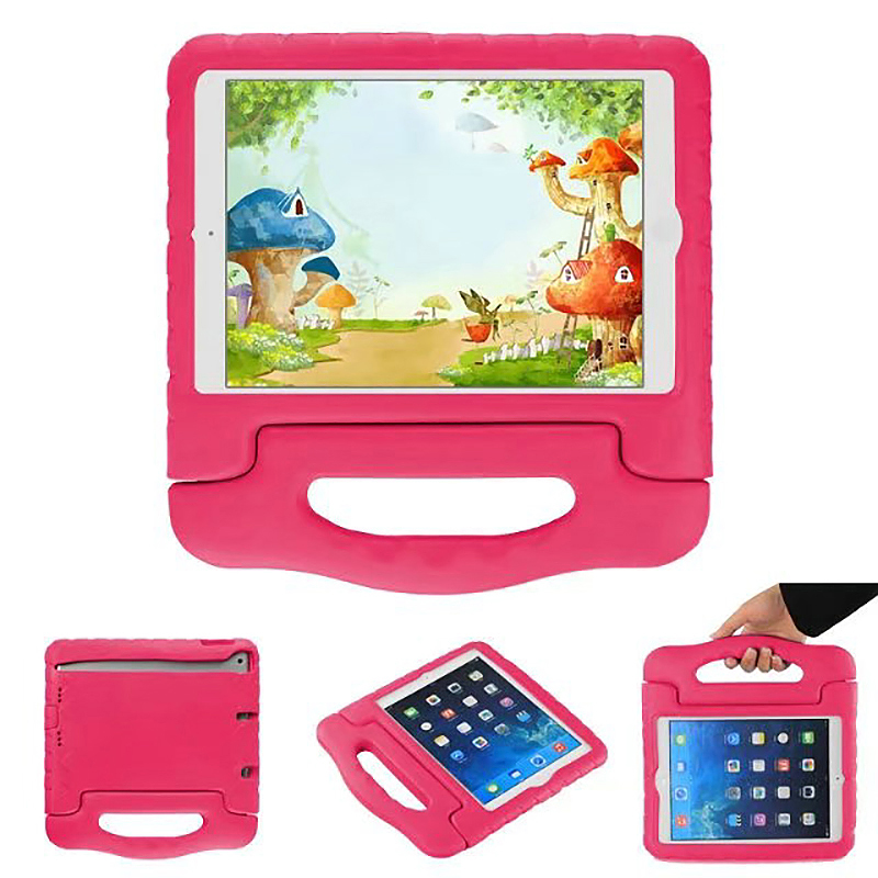 Shockproof EVA Foam Handle Stand Case Cover for Apple iPad 2/3/4 - Rose Red