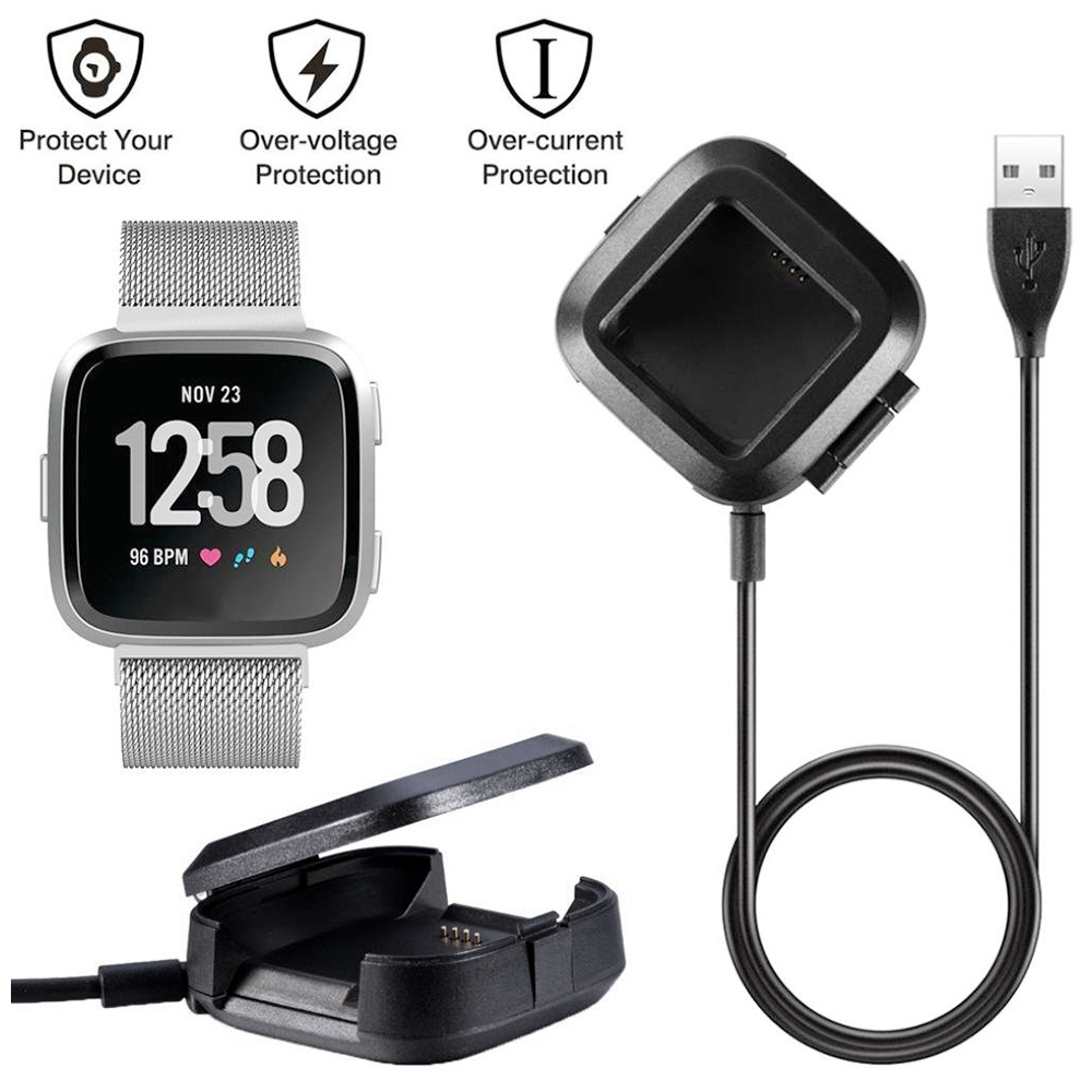 Fitbit Versa Charger Replacement USB Charging Data Cable Cradle Dock - Universal Model