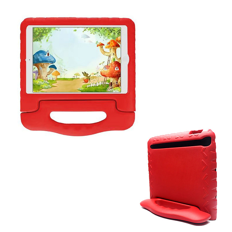 Kids Shockproof EVA Foam Stand Case Cover for Apple iPad Mini 1/2/3 - Red