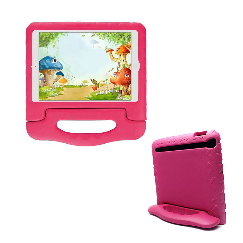 Kids Shockproof EVA Foam Stand Case Cover for Apple iPad Mini 1/2/3 - Rose Red