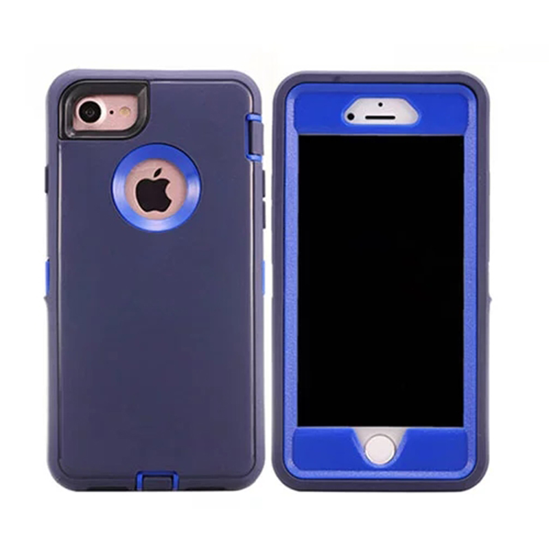 Heavy Duty Rugged Case Dustproof Shockproof Drop-proof Cover Shell for Apple iPhone 7/8 - Blue