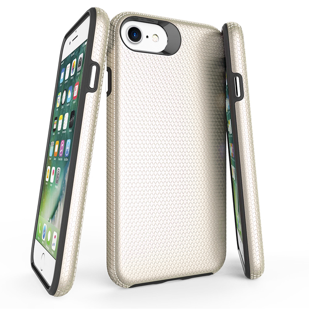 Slim Durable TPU+PC Hybrid Rugged Shockproof Case Back Cover for iPhone 6/7/8 - Golden