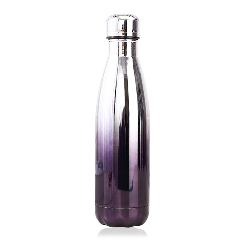 500ML Plating Gradient Water Flask Stainless Steel Double Wall Vacuum Insulated Bottle - Plating Black