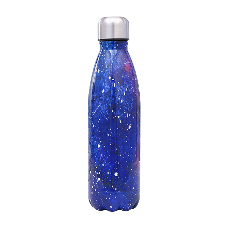 500ML Portable Stainless Steel Water Flask Starry Sky Pattern Double Wall Vacuum Insulated Bottle - Pattern 1