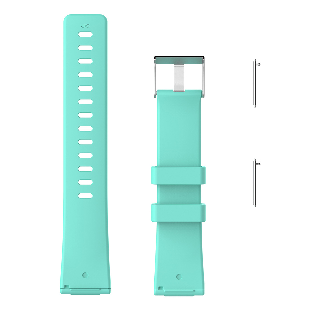 5.5-7.1 Inches Soft Silicone Sports Replacement Watch Band Wrist Strap for Fitbit Versa - Light Blue