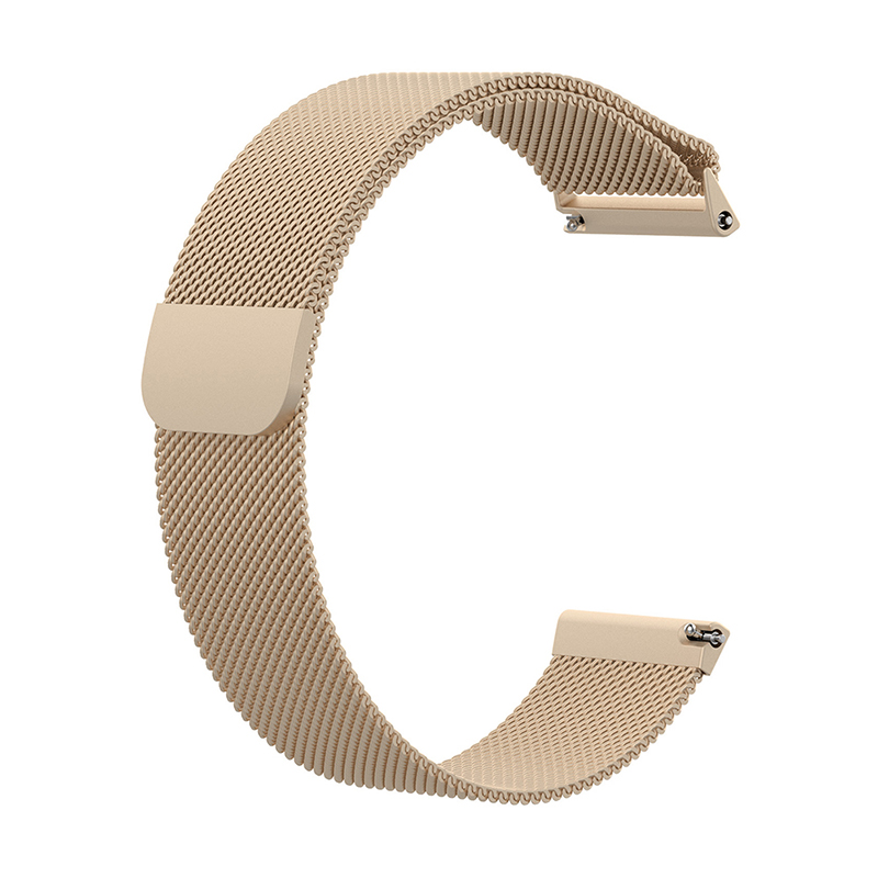 Large Milanese Metal Replacement Watchband Magnetic Stainless Steel Watch Strap for Fitbit Versa - Champagne