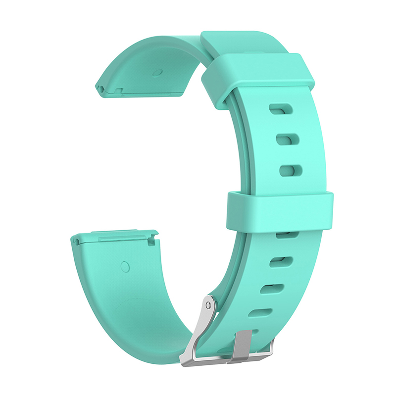 Large Silicone Sports Watch Band Flexible Adjustable Replacement Wrist Strap for Fitbit Versa - Light Blue