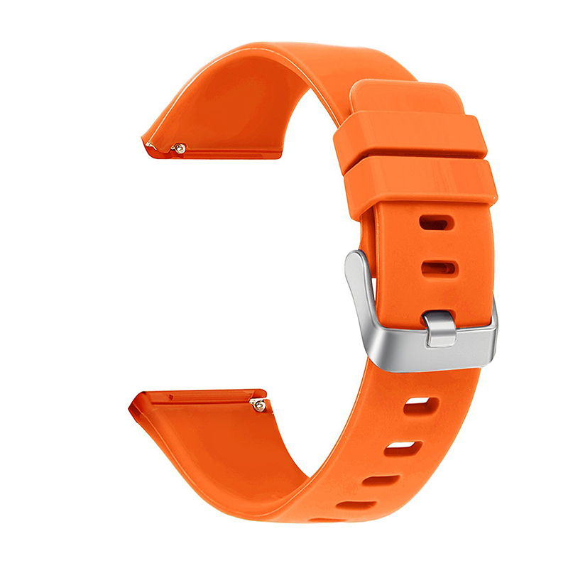 Large Silicone Sports Watch Band Flexible Adjustable Replacement Wrist Strap for Fitbit Versa - Orange