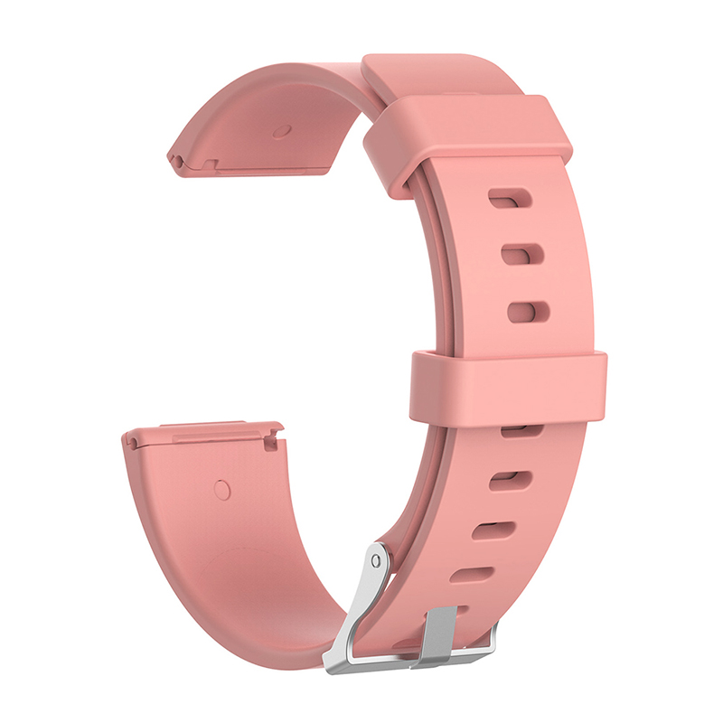 Large Silicone Sports Watch Band Flexible Adjustable Replacement Wrist Strap for Fitbit Versa - Pink