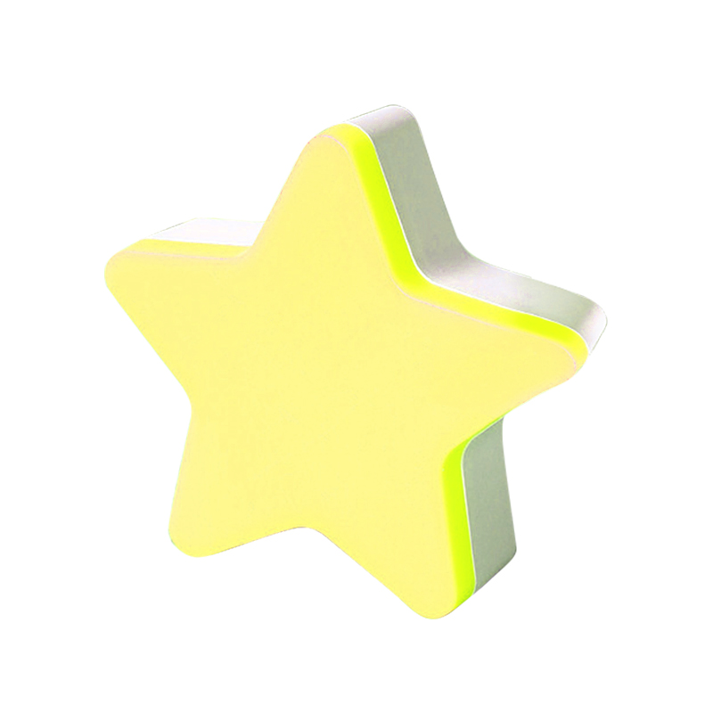 LED Sensor Control Light Kids Bedroom Decor Wall Night Light EU Plug Star Light - Yellow