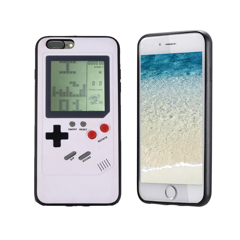 Tetris Nintendo Game Boy Player Phone Cases for iPhone 7/8 Plus - White