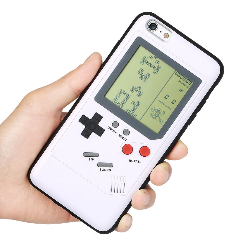 Retro Tetris Nintendo Game Blokus Console Phone Case Cover for iPhone 6/6s Plus - White