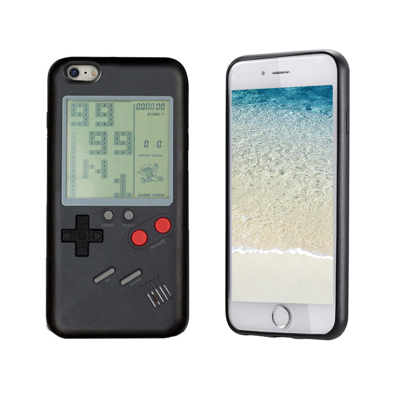 Tetris Blokus Game Console Nintendo Gameboy Phone Cases for iPhone 6/6s - Black