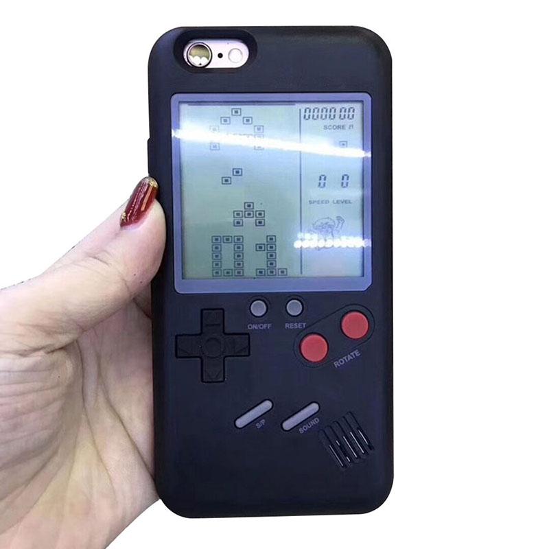 Tetris Blokus Game Console Nintendo Gameboy Phone Cases for iPhone 6/6s - Black