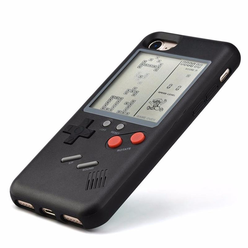 iPhone 7/8 Cases Retro Play Tetris Nintendo Gameboy Phone Case - Black
