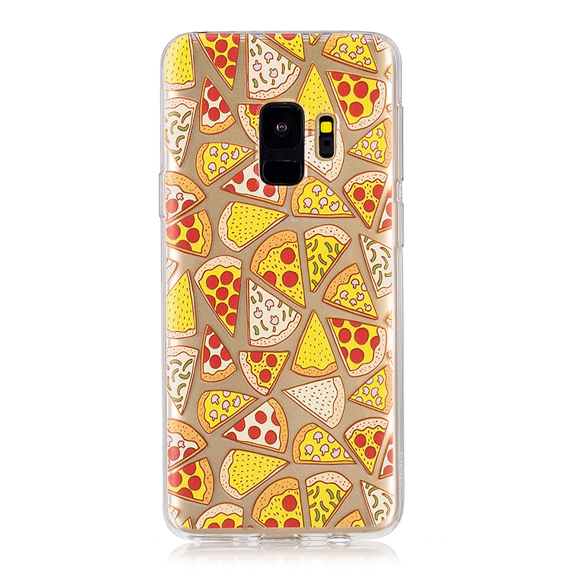 Samsung Printed Rubber Case Soft TPU Protective Phone Cover Shell for Galaxy S9 - Pizza