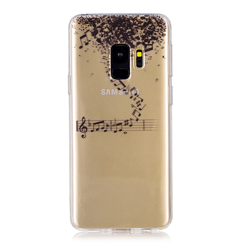 Samsung Printed Rubber Case Soft TPU Protective Phone Cover Shell for Galaxy S9 - Music