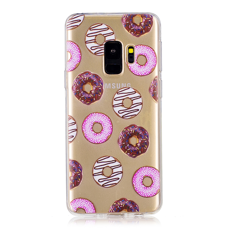 Samsung Printed Rubber Case Soft TPU Protective Phone Cover Shell for Galaxy S9 - Doughnut