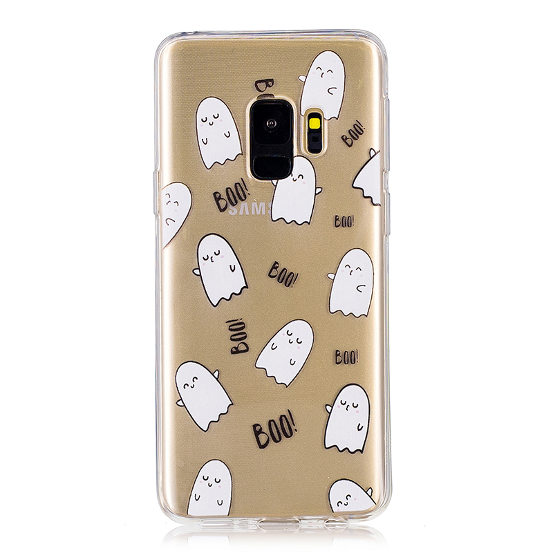 Samsung Printed Rubber Case Soft TPU Protective Phone Cover Shell for Galaxy S9 - Expression Egg