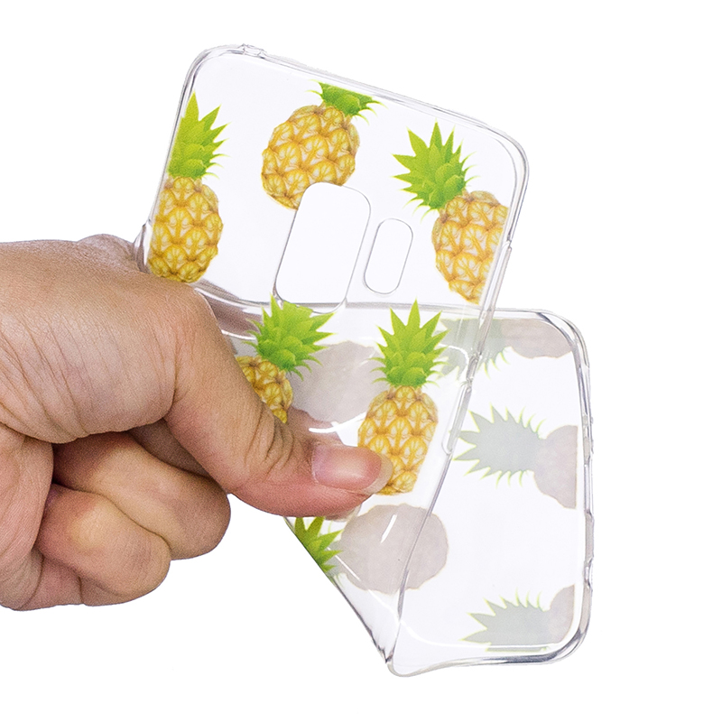 Samsung Printed Rubber Case Soft TPU Protective Phone Cover Shell for Galaxy S9 - Pineapple