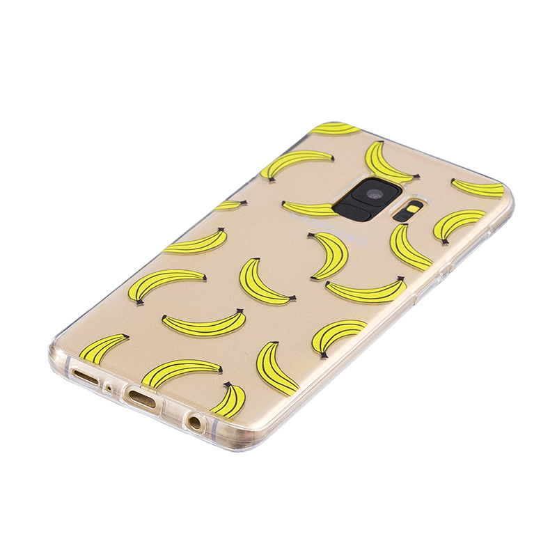 Samsung Printed Rubber Case Soft TPU Protective Phone Cover Shell for Galaxy S9 - Banana