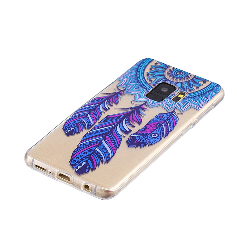 Samsung Printed Rubber Case Soft TPU Protective Phone Cover Shell for Galaxy S9 - Dreamcatcher
