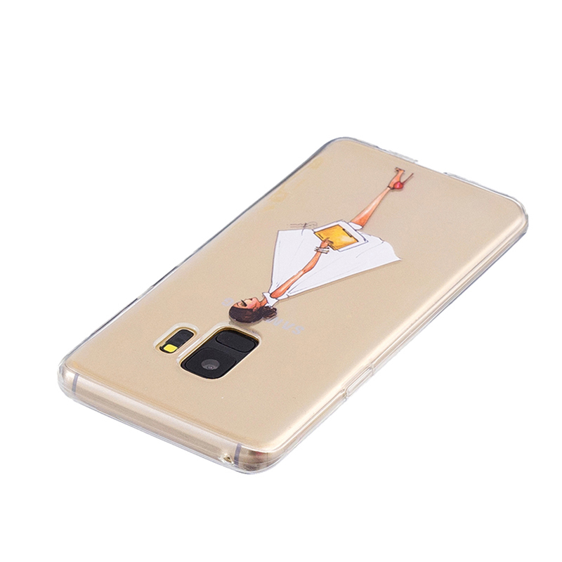 Samsung Printed Rubber Case Soft TPU Protective Phone Cover Shell for Galaxy S9 - Girl