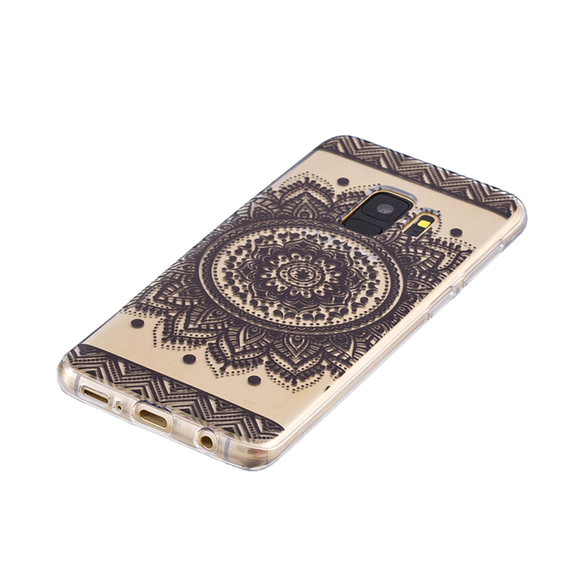 Samsung Printed Rubber Case Soft TPU Protective Phone Cover Shell for Galaxy S9 - Bilateral Flowers