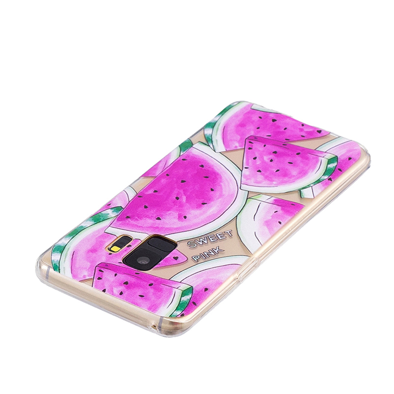 Samsung Printed Rubber Case Soft TPU Protective Phone Cover Shell for Galaxy S9 - Watermelon