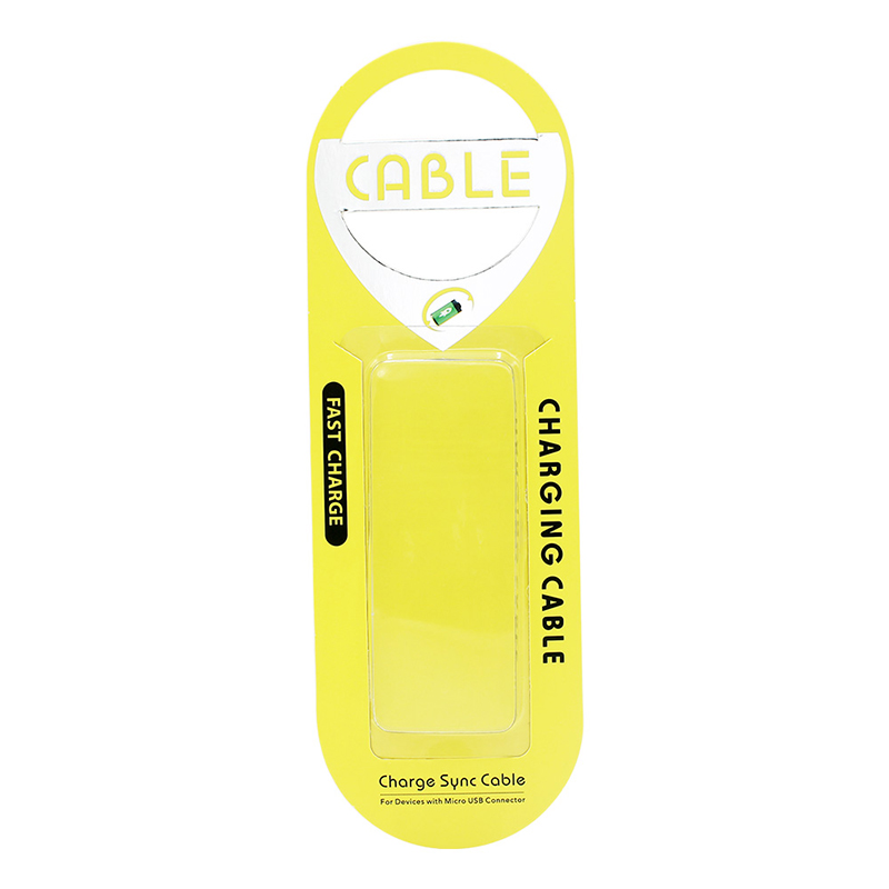 Slim Universal Charging Data Cable Blister Cardboard Retail Box