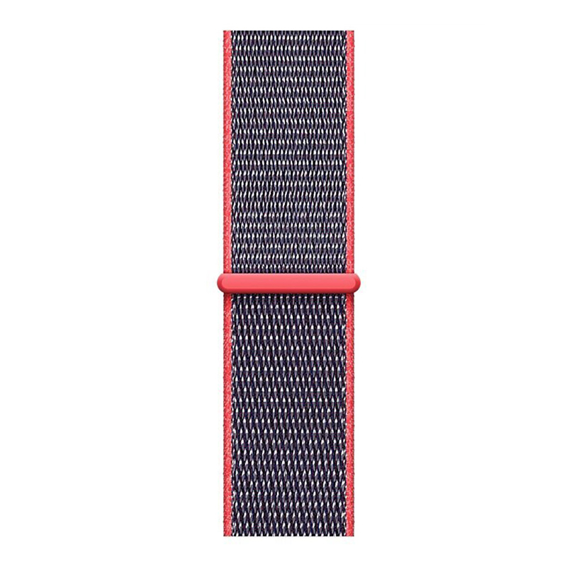 Fitbit Versa Nylon Woven Braided Watch Band Breathable Sports Replacement Wrist Strap - Red