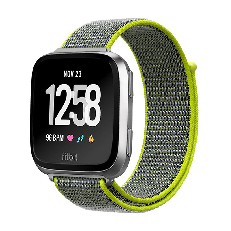 Fitbit Versa Nylon Woven Braided Watch Band Breathable Sports Replacement Wrist Strap - Yellow