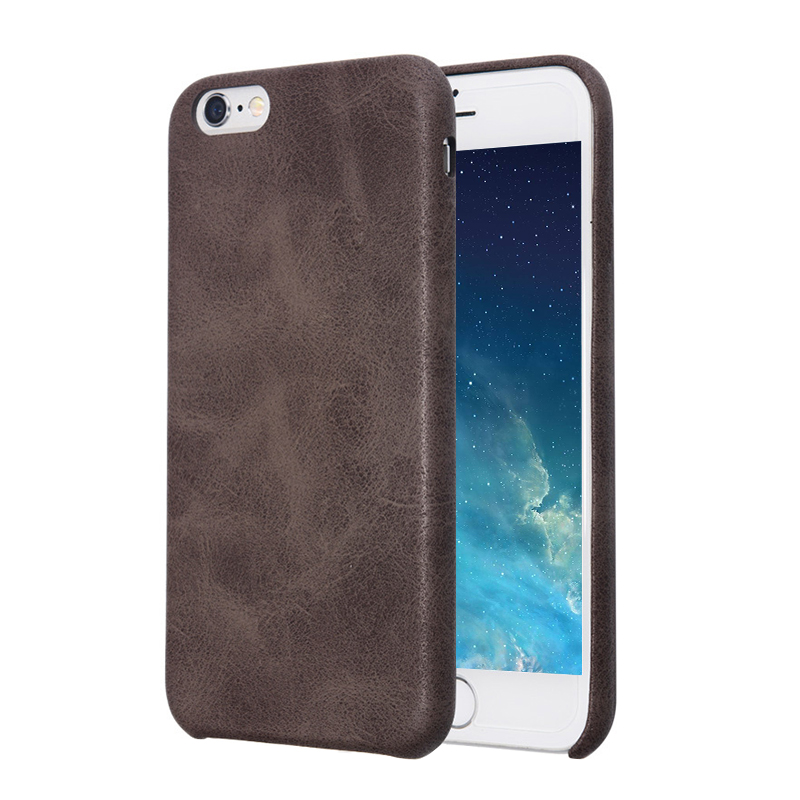 Luxury PU leather Phone Case Back Cover for Apple iPhone 6/6s Plus - Brown