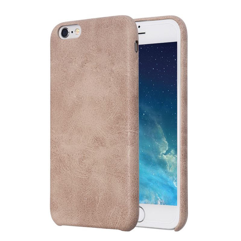 Luxury PU leather Phone Case Back Cover for Apple iPhone 6/6s Plus - Beige