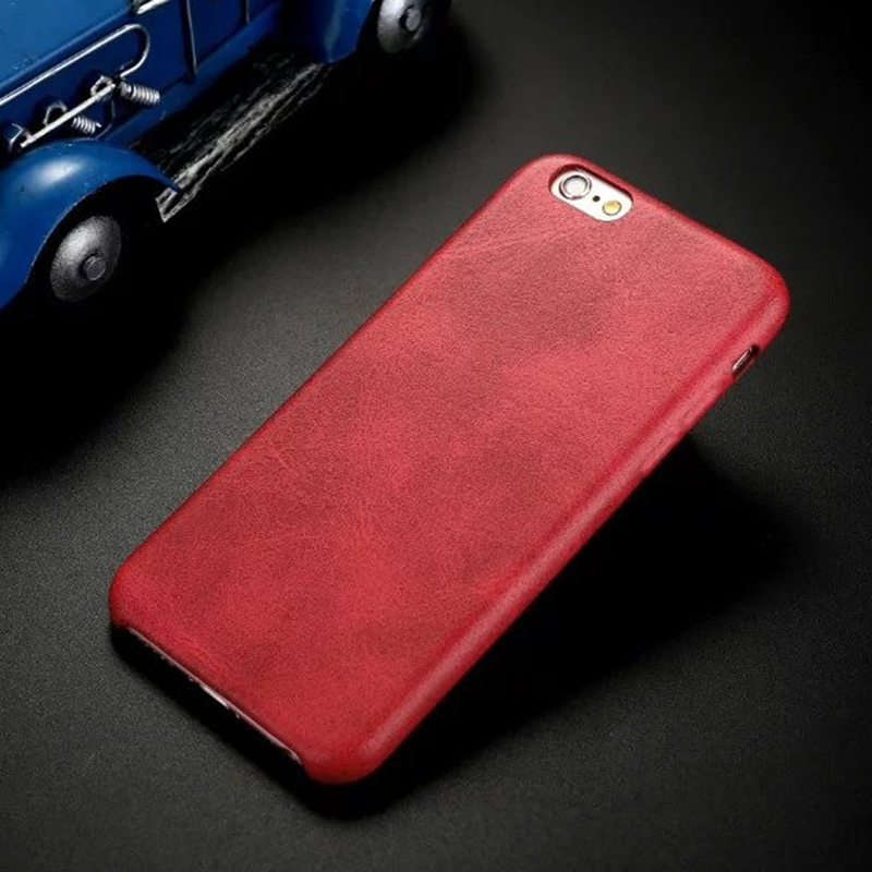 Luxury PU leather Phone Case Back Cover for Apple iPhone 6/6s Plus - Red