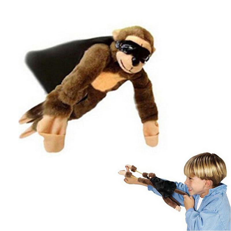 Funny Flying Flingshot Slingshot Monkey Plush Toys Screaming Surprise Toy Gifts