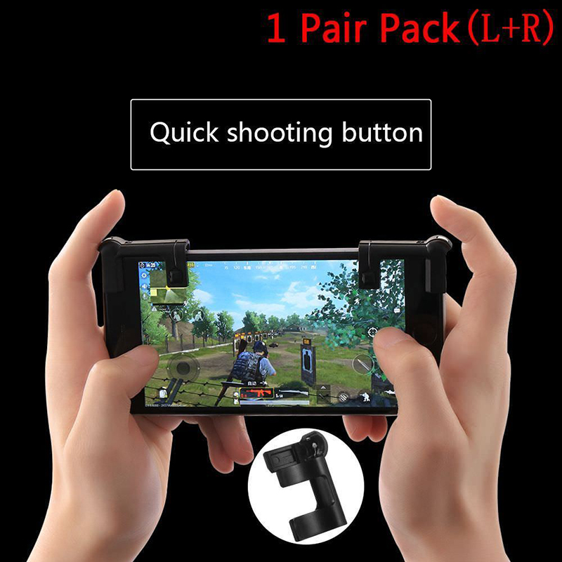 1Pair L1R1 Shooter Controller Smartphone Mobile Gaming Trigger Fire Button Handle
