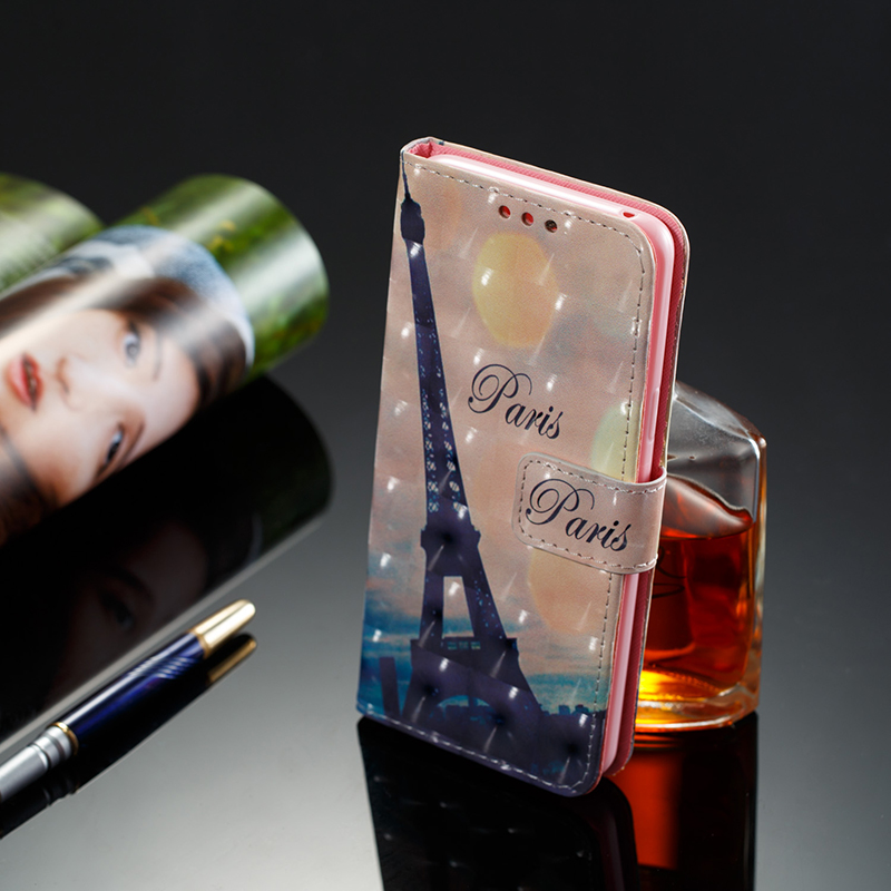 Vintage Painted PU Leather Case Smart Magnetic Flip Stand Cover with Card Holders for Samsung S9 - Pattern 4