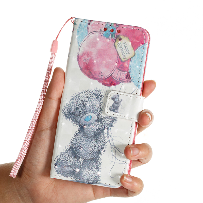 Vintage Painted PU Leather Case Smart Magnetic Flip Stand Cover with Card Holders for Samsung S9 - Pattern 7