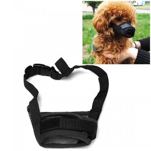 Dog Pet Safety Muzzle Anti Bite Bark Chew Adjustable Breathable Mouth Mask - Size M