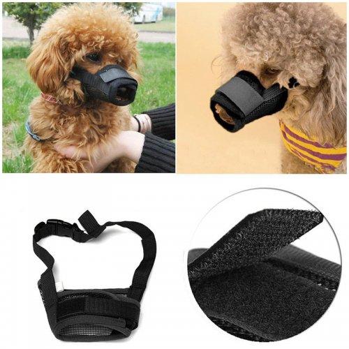 Dog Pet Safety Muzzle Anti Bite Bark Chew Adjustable Breathable Mouth Mask - Size L