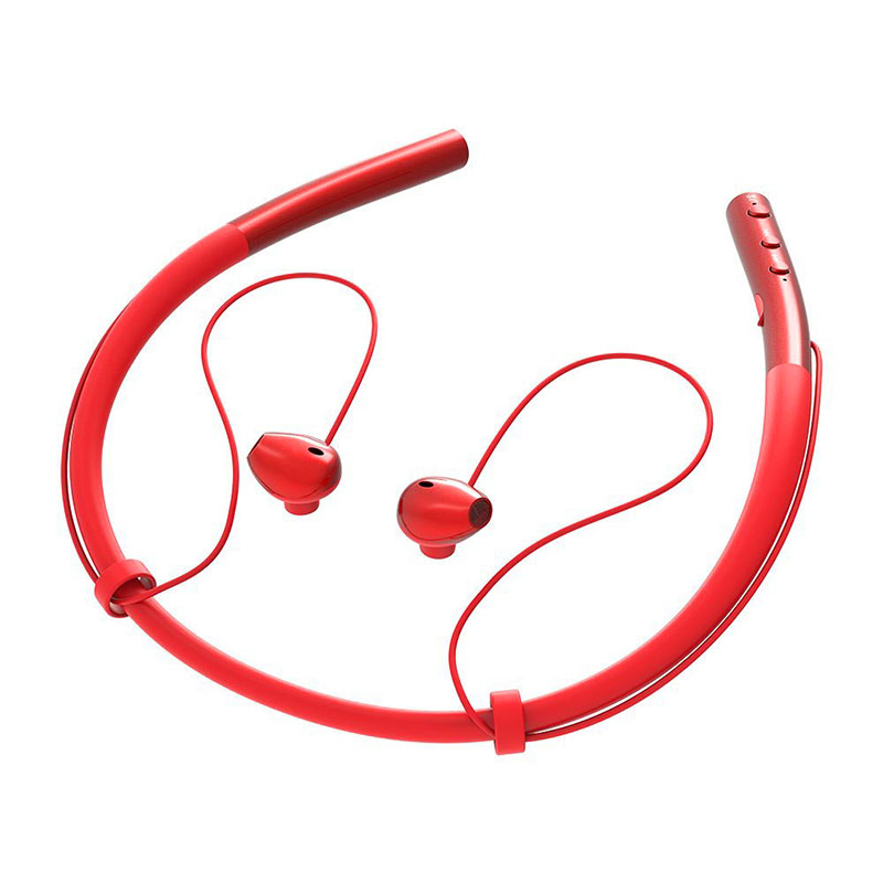 Wireless Bluetooth V4.1 Headphone Neckband In-ear Earphone for Sports Running - Red